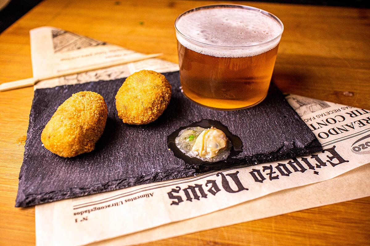 croquetas con cerveza