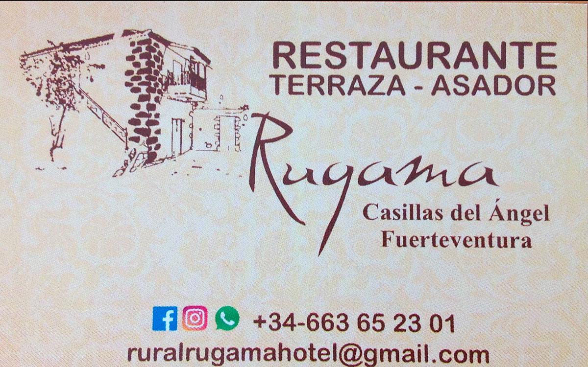 tarjeta Restaurante Terraza Asador Rugama